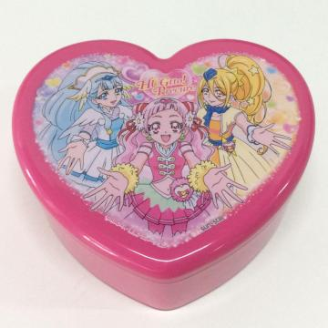 Plastic cartoon heart-shaped double-layer storage box