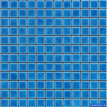 Blue Glaze Cracking Porcelain Mosaic