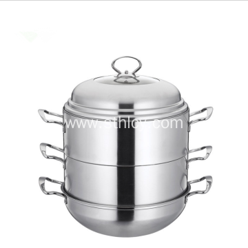 33 CM Stainless Steel Steamer Pot With Cover