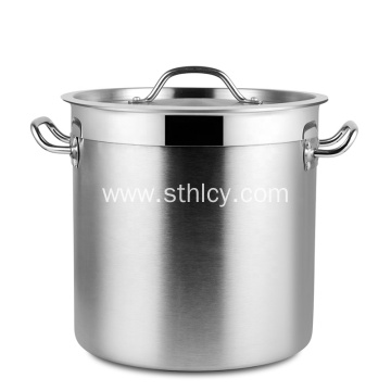 Large Double Ears Stainless Steel Soup Bucket