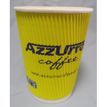 Ripple Kraft Paper Coffee Cups tasse murale ondulée 8/10/12/16 OZ