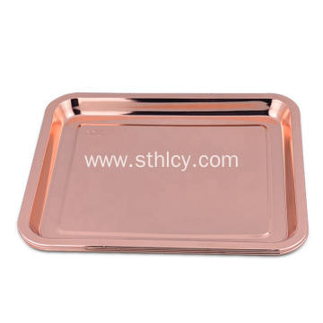 Rose Gold Stainless Steel Custom Square Serving Tray