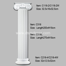Hot selling attractive price for Fluted Columns Polyurethane Classical Order Columns supply to India Exporter