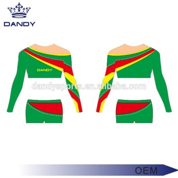 Customized sublimation high school cheerleading uniforms