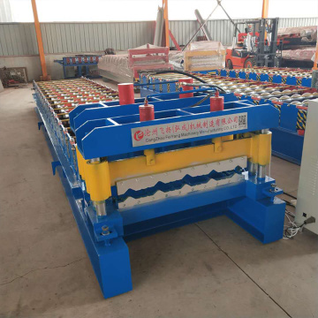 Color steel glazed tile roofing roll forming machine