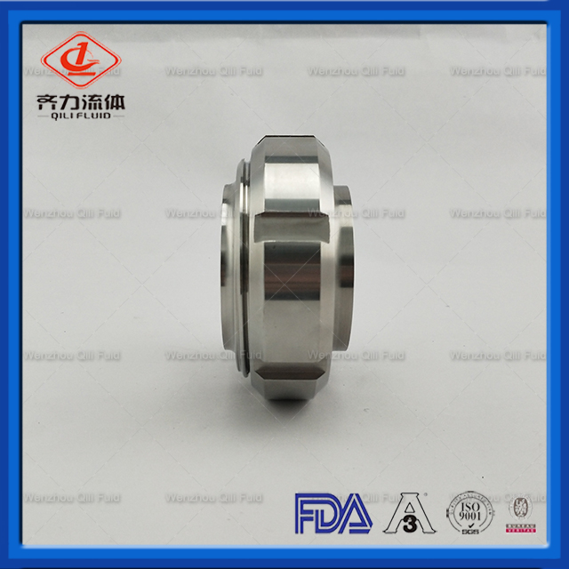 sanitary stainless steel DIN Union with gasket