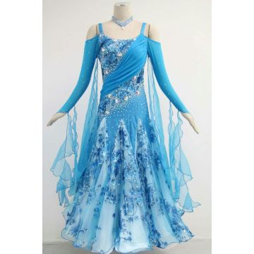 Blue ballroom attire ladies