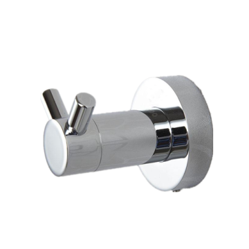 Bathroom Round Base Double Hook Stainless Steel