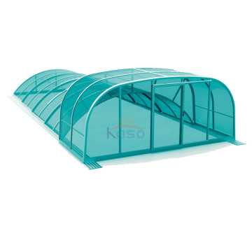 Poland Telescopic Cover Polycarbonate Swimming Pool Roof