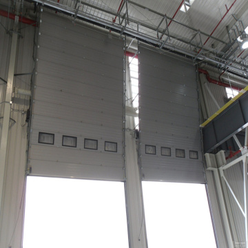 Aluminum Automatic high speed sectional door