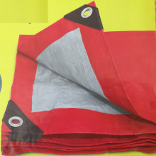 Personlized Products for Lightweight Tarp Red Silver Polyethylene Tarpaulin export to Netherlands Wholesale