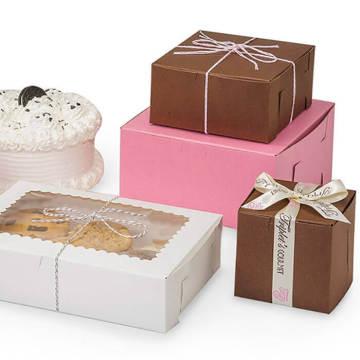 wholesale custom kraft paper bakery boxes with window