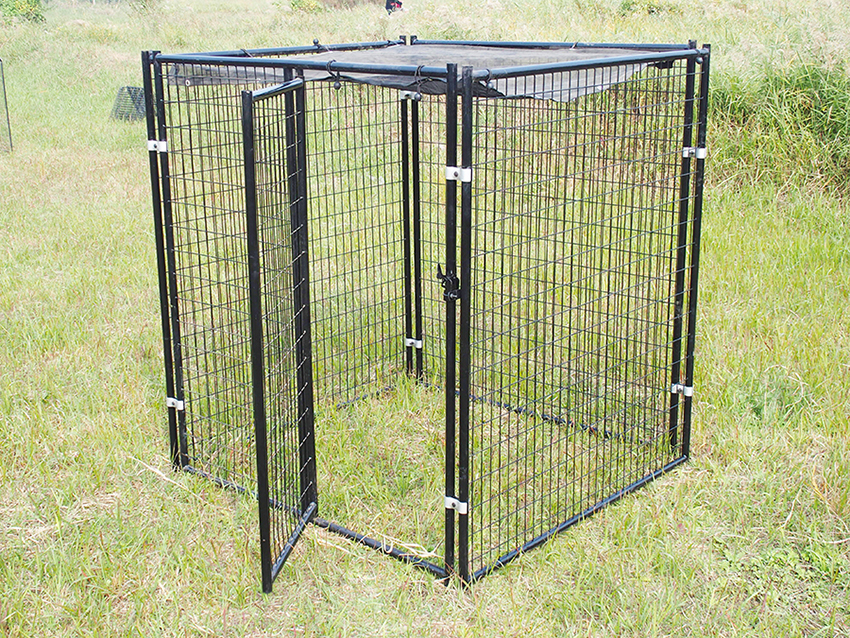 large welded dog kennel-4