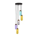 colorful glass E27 pendant lamp