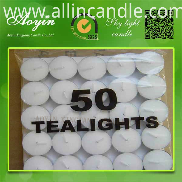 4hrs tea light candle