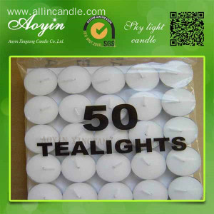 Pack of 50 Tea Light Candles
