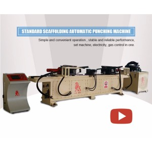 High quality scaffolding punching machine