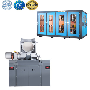 Small casting metal induction melting furnace