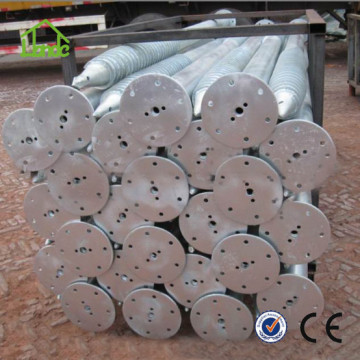 Solar galvanized steel ground screw  anchor