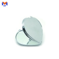 Metal heart shape plain mini pocket mirror