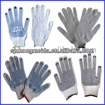 pvc dot 30/70 500g cotton knitted gloves