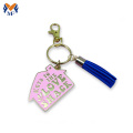 metal customized heart shape keychain