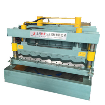 Colored roofing sheet glazed tile roll forming machine