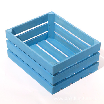 Solid wood crate gift box,Supermarket fruit and vegetable transport wooden boxcatering food transport wood boxes