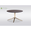 Round Solid Wood Top Coffe Table