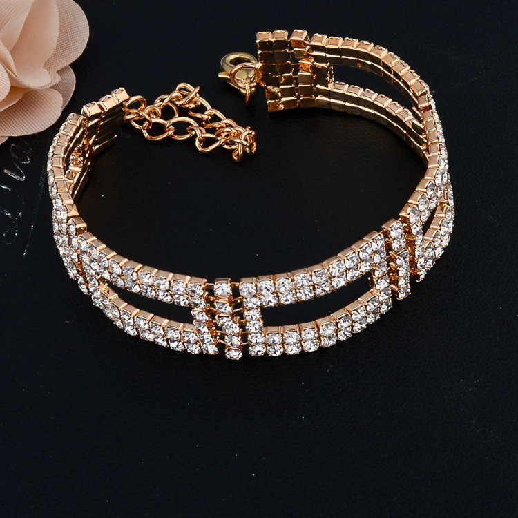 Silver/Gold Plated Crystal Bracelets & Bangles