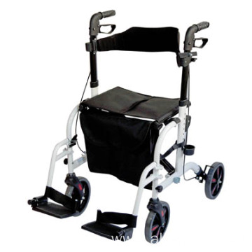Deluxe Rollator And Transit Chair In One