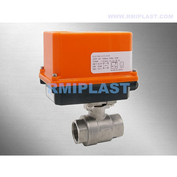 Electric Ball Valve Stainless Steel 304 316, 1000 WOG, NPT Thread