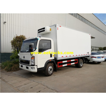 HOWO 3tons Insulated Van Vehicles