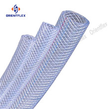 high pressure and clear fibre reinforced pvc hose