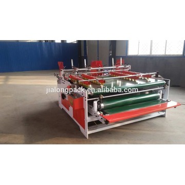 press type corrugated cardboard folding gluing machine