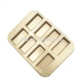 8 Cup Non-stick Gold Rectangle Cake Mold
