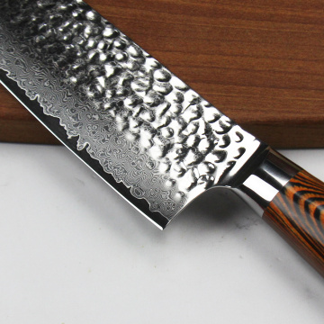 professional 9.5 inches santoku knife damascus knife