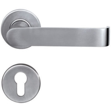 Polished Stainless Steel Solid Hotel Door Handle