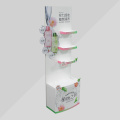4 layers hair products merchandising display stand for surpermarket