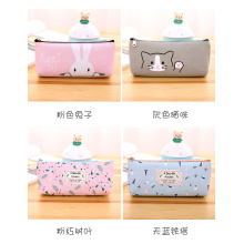 Top for Pencil Pouch Custom lovely canvas bag with zero wallet export to Poland Factory