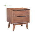 Solid Wood Night Stand of 2 Drawers