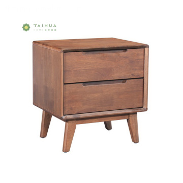 Solid Wood Night Stand ng 2 drawer