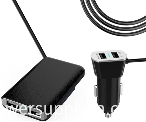 2 in 1 Car Charger with Cable