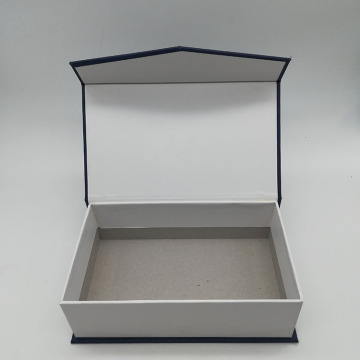 Special Grain Blue Paper Book Shaped Box
