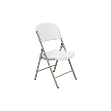 Classic Commercial Folding Chair White Granite