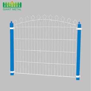 Welded PVC-coated Double Horizontal Prestige Garden Fence