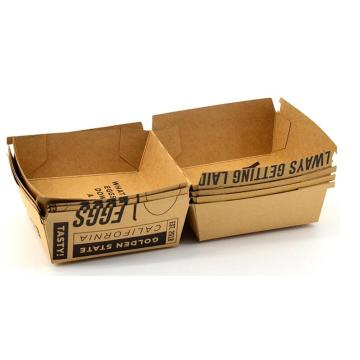 Disposable kraft burge box