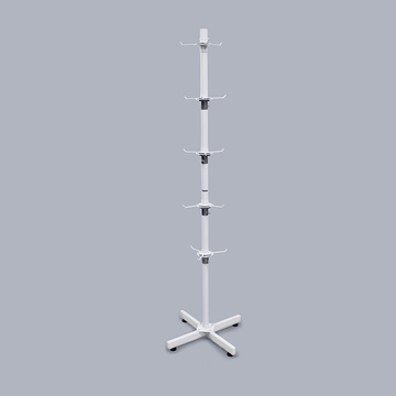 Special for Fixtures And Floor Stands New Arrival White Floor Metal Slipper Display Stand export to South Korea Manufacturer