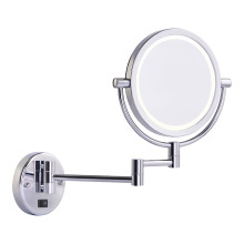 Round double side wall makeup mirror with lights