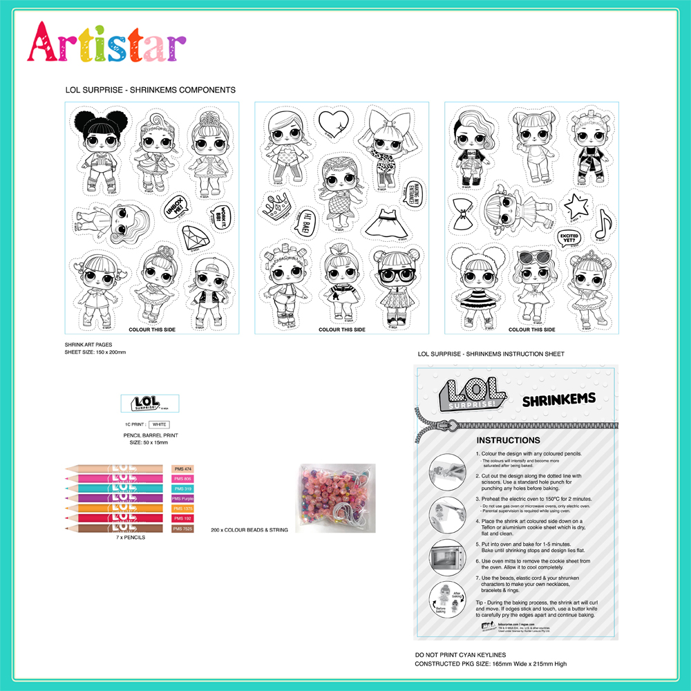 Lol Shrinkems Jewellery Attractive Art Set 2
